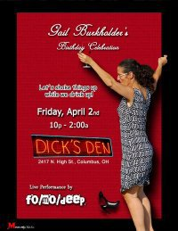 Post image for Fo/Mo/Deep Celebrates Gail Burkholder and WCBE tonight at Dick's Den