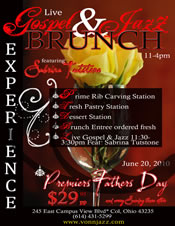 Post image for Vonn Jazz Offers Gospel & Jazz Brunch this Father's Day