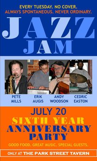 Post image for Park Street Jazz Jam 6th Anniversary Party