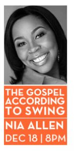Post image for Gospel According to Swing with Byron Stripling, Bobby Floyd, & Nia Allen