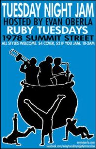 Post image for Final Ruby's Jam Session this Tuesday, March 29th