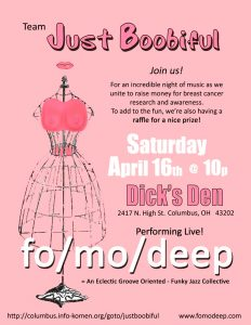 Post image for Breast Cancer Awareness Show at Dick's Den with fo/mo/deep