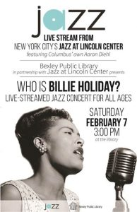 Post image for Bexley Library Offers Live Streaming of Billie Holiday Tribute