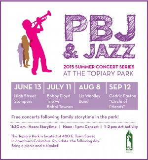 Post image for 2015 PBJ & Jazz at the Topiary Park: Jazz for Kids and Families