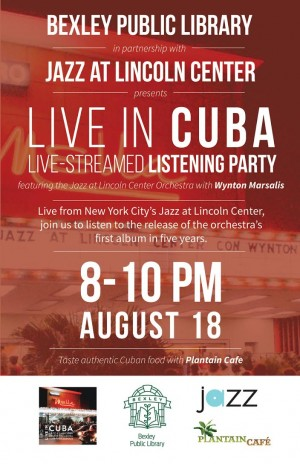 Post image for Jazz at Lincoln Center's LIVE IN CUBA at Bexley Public Library
