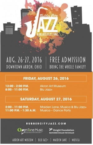 Post image for Rubber City Jazz & Blues Festival in Akron This Weekend