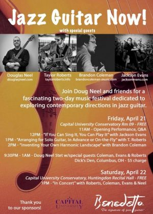 Post image for Jazz Guitar Now Festival April 21-22