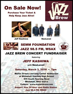 Post image for Jazz Brew Concert with Jeff Kashiwa and NexLevel