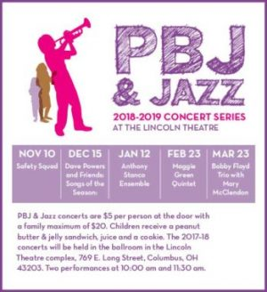 Post image for 2018-2019 PBJ & Jazz Fall/Winter Series