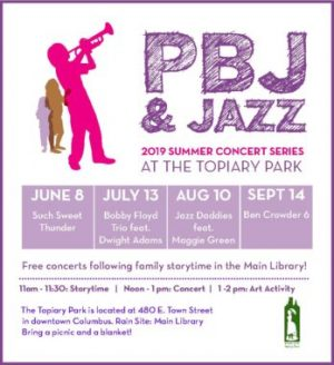Post image for Summer PBJ & Jazz at the Topiary Park 2019