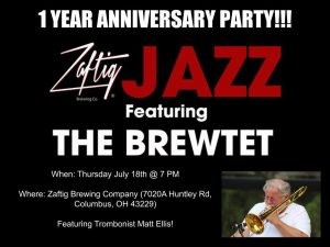 Post image for The Brewtet Jazz Jam Sessions at Zaftig Podcast, Anniversary Show
