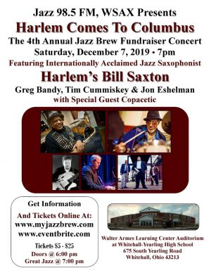 Post image for 4th Annual WSAX Jazz Brew Fundraiser December 7
